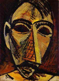 Pablo Picasso, 1907 Tête d'homme