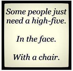 high five...
