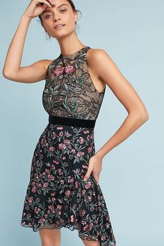 8f09b463c7df ML Monique Lhuillier Embroidered Lace Dress