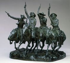 Frederic Remington. Off the Range (Coming through the Rye), Modeled 1902; Cast 1903  bronze with green patina. Corcoran Gallery of Art