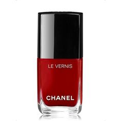 CHANEL LE VERNIS Longwear Nail Colour (£18) ❤ liked on Polyvore featuring beauty products, nail care, nail polish, makeup, beauty, nails, red, shiny nail polish, chanel nail polish and chanel nail lacquer