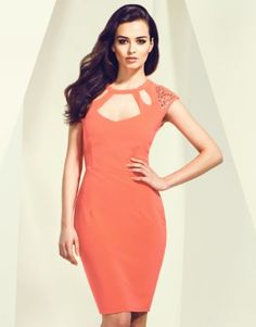 New Kardashian Kollection at Lipsy, bodycon cut out dress with embellished shoulder detail to give a truly glamorous look #Summer14