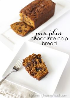 Pumpkin Chocolate Chip Bread! This bread is addictive and is sure to become a family favorite!