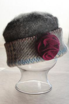 Upcycled Felted Wool Hat for Girls