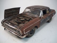 1964 Dodge 330 Sedan Custom Weathered Barn Find Drag Car Rat Rod 1/18 Highway 61 #Highway61SuperCarCollectibles #1964Dodge330