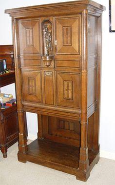 Spectacular German Jugendstil Arts & Crafts Cabinet