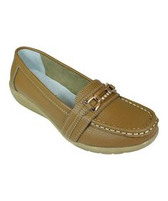 Look what I found on #zulily! Khaki Link Loafer #zulilyfinds