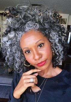 Texture Tales: Tennille Shares Her Journey of Embracing Her Silver Curls Grey Hair Don't Care, Grey Curly Hair, Grey Wig, Gray Hair, White Hair, Hair Care, Medium Hair Styles, Curly Hair Styles, Natural Hair Styles