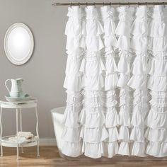 Kemmy Shower Curtain White - Lush Dcor : Target