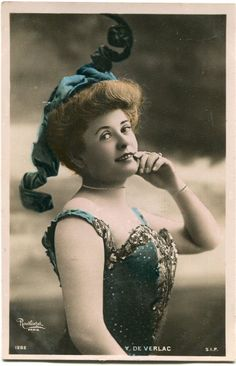 Vintage French RPPC Postcard Actress Stage Star Miss de Verlac Reutlinger | eBay