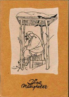 Reklame Kjell Aukrust ill. på hft. Dine Muligheter. Helsedir. om Hytterenovasjon Postcards, Comics, Art, Pictures, Art Background, Kunst, Cartoons, Performing Arts, Comic