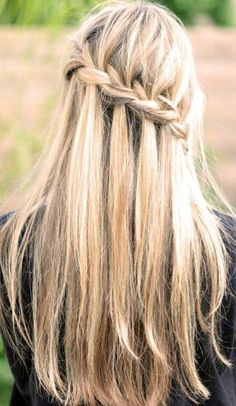 Thick Diagonal Braid on Long Blonde Hair Well, we posted a romantic wavy waterfall braid yesterday, if you dont like the curly hair, here is anohter waterfall braid for straight hair. The innovative new braided styles have proved to be a real fashion force, giving long hair wearers an enormous range of trendy 21st century[Read the Rest]