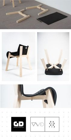 La Eva, a clever chair design concept by David Ortiz. David Ortiz is a San Luis Potosi, Mexico based industrial designer. The talented designer has created