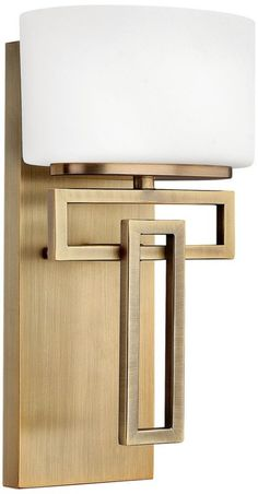 Lanza Brushed Bronze Modern Hinkley Wall Sconce - Euro Style Lighting $125