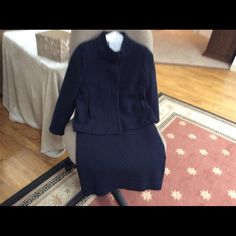 Women's skirt suit Knit type fabric skirt and jacket Skirts A-Line or Full