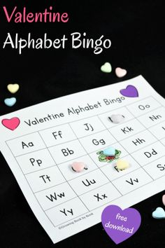 Planning a Valentine's Day party? Here is a fun Valentine game to place that also builds literacy skills. Play Valentine Alphabet Bingo with kids with these printables. Activity for students Valentines Day Food, My Funny Valentine, Valentines Day History, Valentine Bingo, Valentines Day Activities, Valentines Day Shirts, Valentine Day Crafts, Valentine Ideas, Valentine Nails
