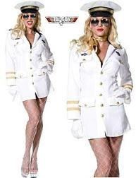 Ladies Official Top Gun Officer Costume