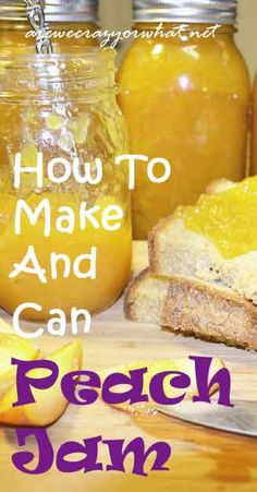 Step by step directions for making and canning peach jam. #beselfreliant