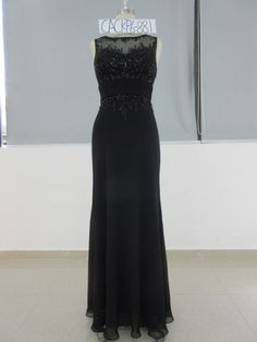 Sleeveless black #eveningdresses like this can be custom made to order with any changes for the #motherofthebride