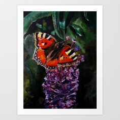 The butterfly Art Print by Natalie Murray - $18.00