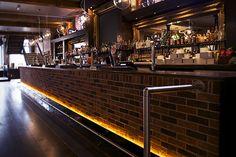 The Terrace Bar in Leicester, illuminated with Ledridge Lighting LED ribbon. Led Light Store, Led Lighting Solutions, Lighting Store, Leicester, Light Up, Terrace, Ribbon, Bar, Home Decor