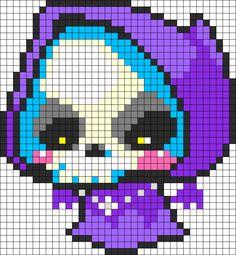 Cute Maplestory Death Jr Reaper Perler Bead Pattern | Bead Sprites | Characters Fuse Bead Patterns