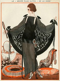 Illustration by Armand Vallee For La Vie Parisienne 1920s