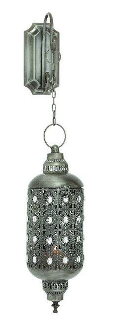 Hanging Metal Lantern Candle Holder Antiqued Silver Acrylic Bead D | lamp | lighting, furniture | accents, home decor | accessories, wall decor, patio | garden, Rugs, seasonal decor,garden decor,patio decor,home decor