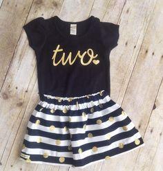 Girls Birthday outfit, 2nd birthday shirt,ANY AGE,  girls Birthday shirt and skirt by WillowBeeApparel on Etsy https://www.etsy.com/listing/211527727/girls-birthday-outfit-2nd-birthday