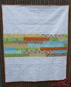 scrappy quilt back - also a great front i think! Backing A Quilt, Quilt Border, Quilting Projects, Quilting Designs, Sewing Projects, Scrappy Quilts, Baby Quilts, Fat Quarter Quilt, Quilt Binding
