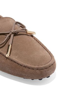 Tod's - Gommino Suede Loafers - Beige - IT