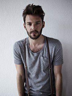 hair, beard, suspenders. duh.