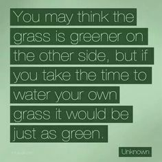 Water your own grass and it'll be green too!
