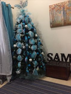 Turquoise and white Christmas