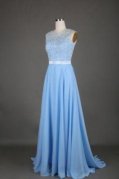 84 Charming A-Line Chiffon Prom Dress,Noble Appliques Evening Dress