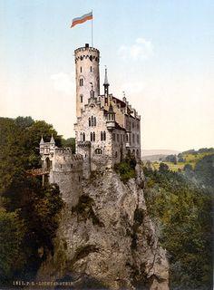 Castelo de Lichtenstein'. # Honau, Alemanha.