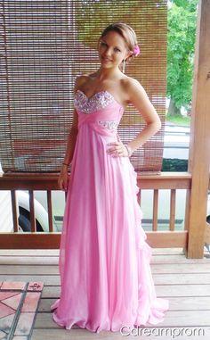pretty prom dress pink dress