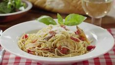 Pasta Recipes - How to Make Angel Hair Pasta with Shrimp and Basil