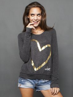 i am gold love comfy kt black top