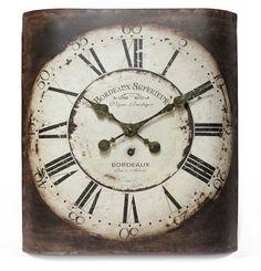 Infinity Instruments Bordeaux Wall Clock 14193-3257