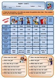English worksheets: simple worksheets, page 4