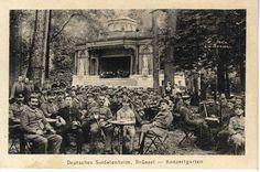 Soldats allemands au Parc de Bruxelles (Vauxhall) - Duitse soldaten in het Warandepark (Vauxhall) - German soldiers at the Brussels Park (Vauxhall) © Archief Stad Brussel