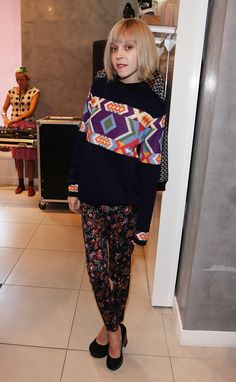 Antonia Campbell- Hughes nails the prints at the Louise Gray for Topshop launch party.