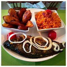 Fried Plantains & Fish