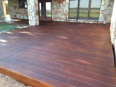 Concrete Wood Oklahoma City OK Concrete Curbing, Concrete Wood, Stained Concrete, Epoxy Coating, Oklahoma City, Hardwood Floors, Diys, Outdoor Decor, Home Decor