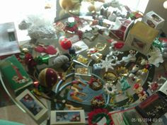 Huge Lot of Vintage Christmas Decorations + SOME NEW WITH TAGS & BOXS FIGURINES