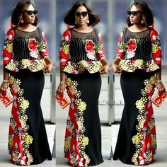 9 Lovely Ankara Styles You Want To Get Now - AfroCosmopolitan Latest Ankara Dresses, African Dresses For Kids, African Prom Dresses, Trendy Ankara Styles, Latest African Fashion Dresses, African Attire, African Wear, Beautiful Ankara Gowns, African Blouses