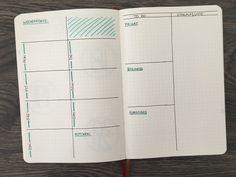13 minimalistische Wochenübersichten für dein Bullet Journal | Punktkariert Bullet Journal Weekly Spread, Bullet Journal Ideas Pages, Bullet Journal Inspiration, Bullet Journals, Journal Guide, Bujo, Weekly Log, Notebook, Lettering