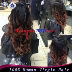 Fashion Body Wave Brazilian Ombre U part Wig 1bT#4 Two Tone Virgin Human Hair Left/Right Middle Upart Wigs For Black Women