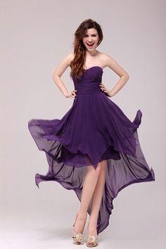 Sweetheart Purple Chiffon Evening Gown sfp2569 - http://www.shopforparty.com/sweetheart-purple-chiffon-evening-gown-sfp2569.html - COLOR: Purple; SILHOUETTE: A-Line; NECKLINE: Sweetheart; EMBELLISHMENTS: Draped; FABRIC: Chiffon - 122USD
